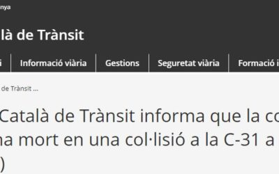 Cconductora d'un turisme ha mort a Ventalló (Alt Empordà)